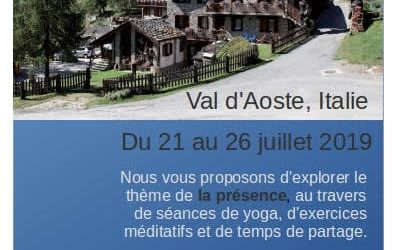 Stage de Yoga 2 -7 agosto  2020 avec Dominique Duquet